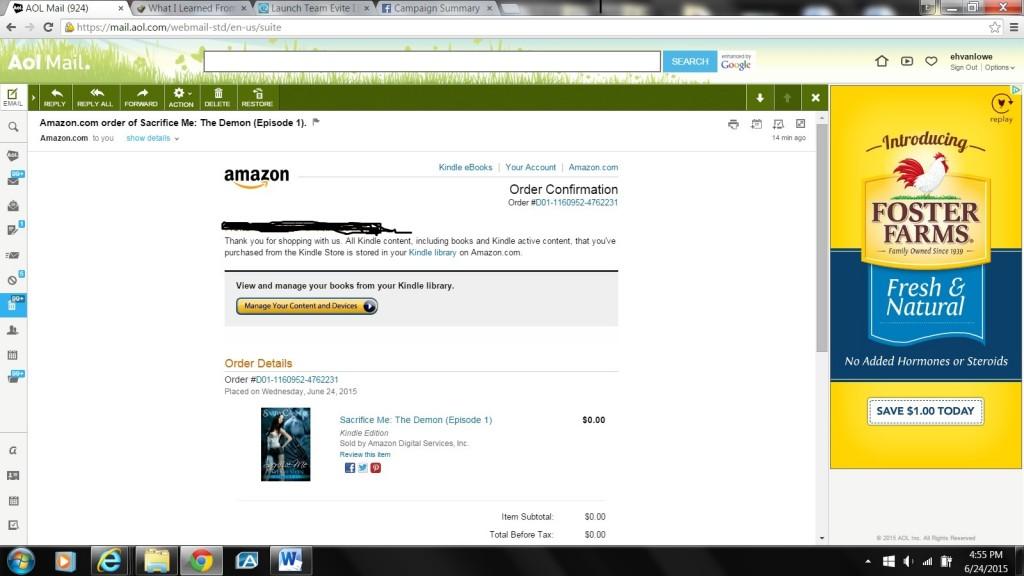 Amazon Proof of Purchase